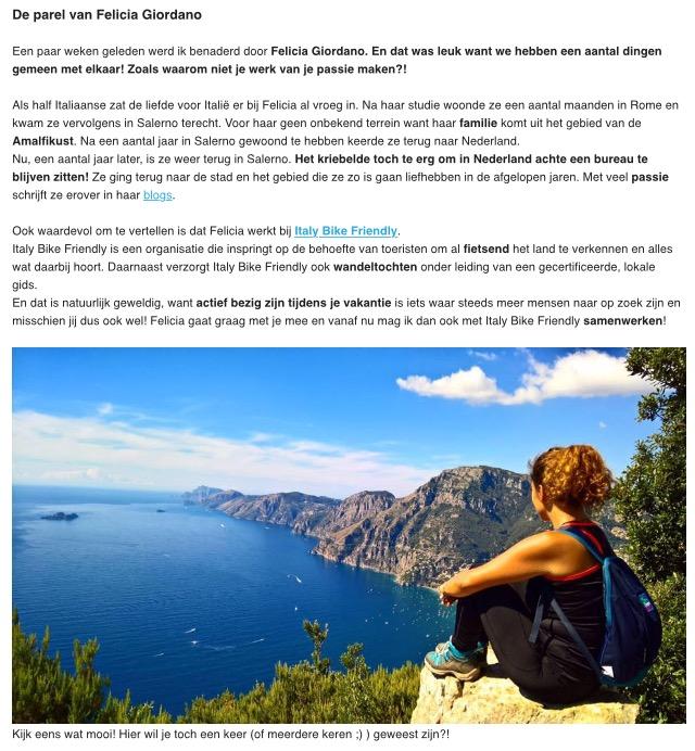 nieuwsbrief salerno travel amalfi kust italy particolare vakanties
