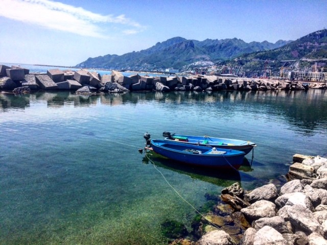 Salerno boulevard lungomare Italy