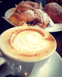 cappuccino cornetti salerno italy breakfast