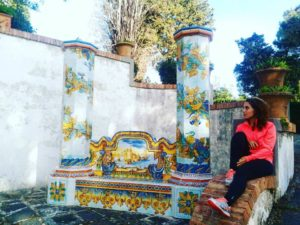 Villa Guerriglia Salerno Raito ceramica italy