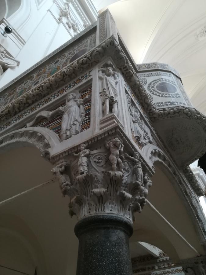 kerk, kathedraal, salerno, duomo