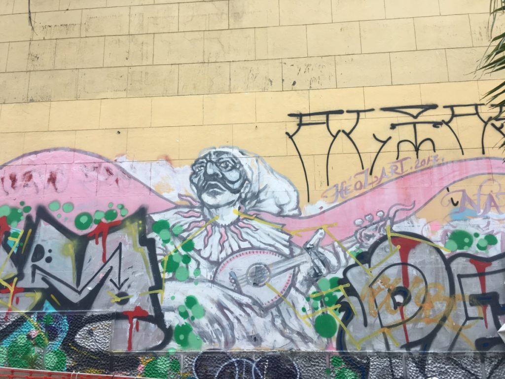 pulcinella napels street art