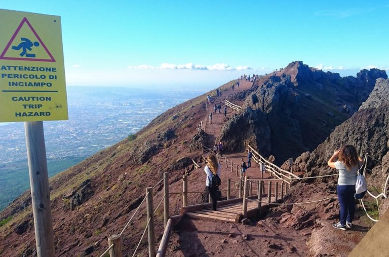 vulkaan uitzicht napels vesuvius
