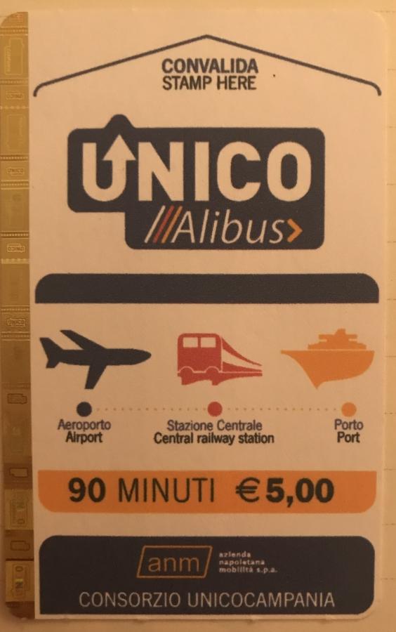 kaartje napels openbaar vervoer