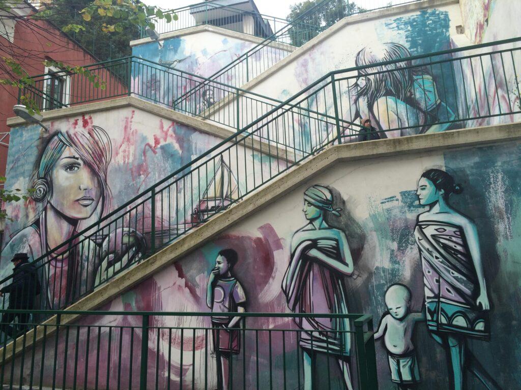 alice pasquini street art salerno