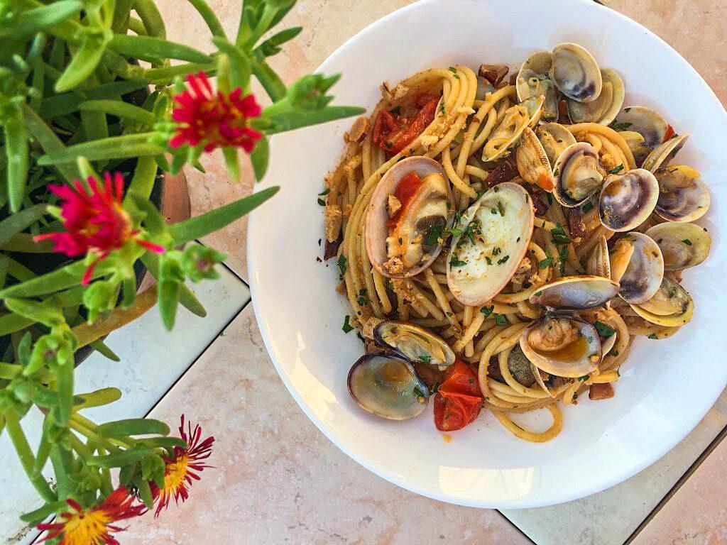 spaghetti vongole recept napels